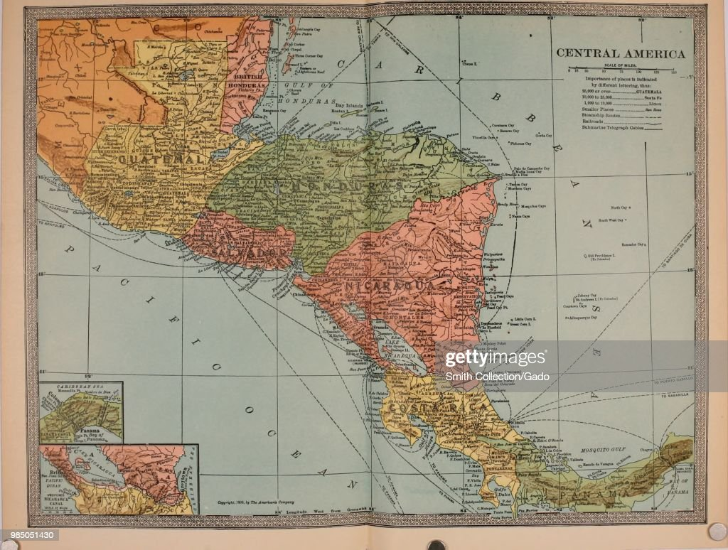 Map Of Central America Pictures   Getty Images
