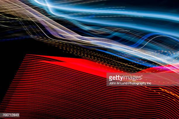 Multicolor flowing technology lines