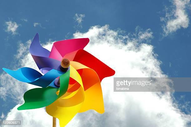 multicolor pinwheel