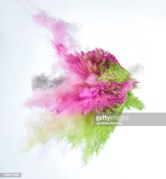 multicolor powder explosion - exploding stock pictures, royalty-free photos & images