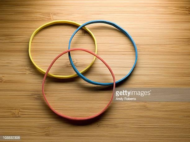 Multicolor rubber bands