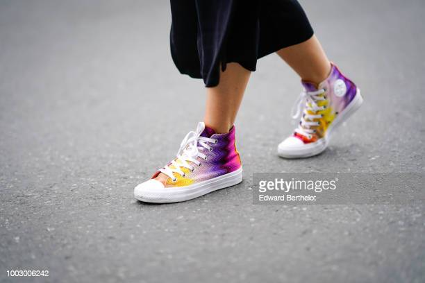 Multicolor shoes are seen during Feeric Fashion Week 2018 on July 20 2018 in Sibiu Romania