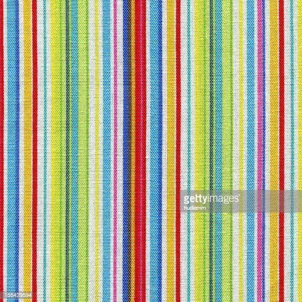 Multicolor striped cotton fabric