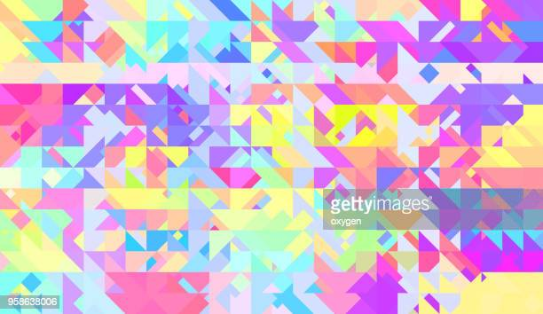 Multicolor triangular abstract background