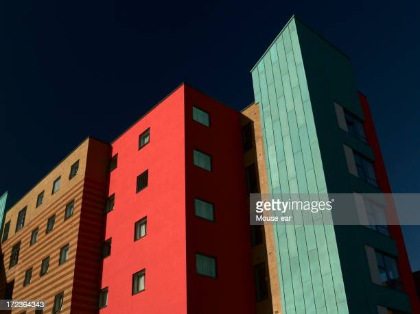 Multicolored apartment block