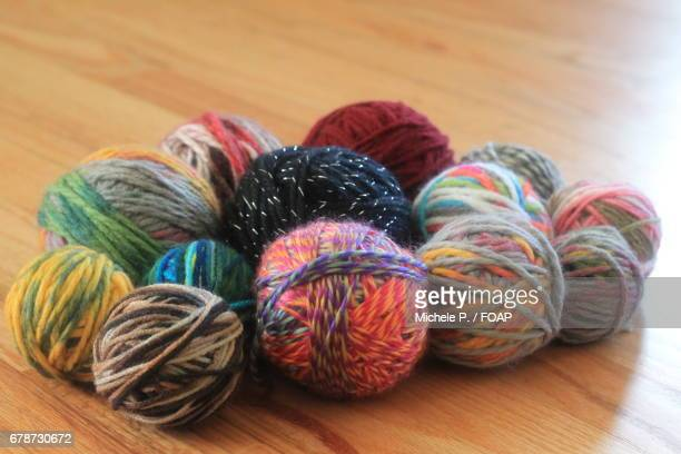 Multicolored ball of wool