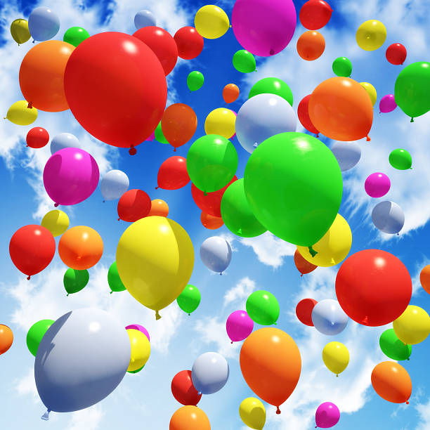 Multicolored Balloon's released into the sky