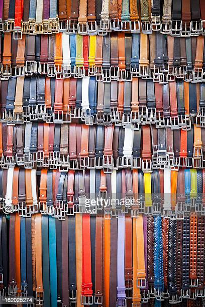 Multicolored belts