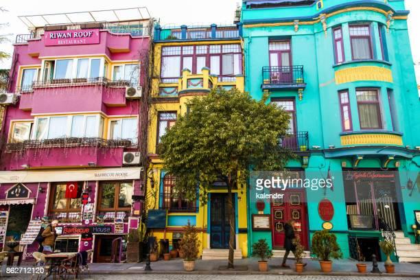 Multi-colored buildings - Sultanahmet in Istanbul