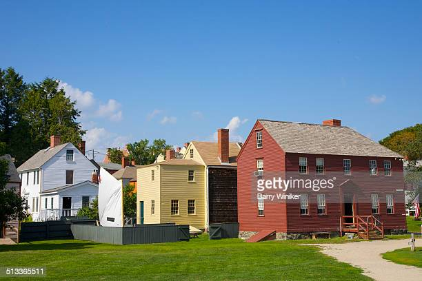 Multi-colored clapboard Portsmouth homes