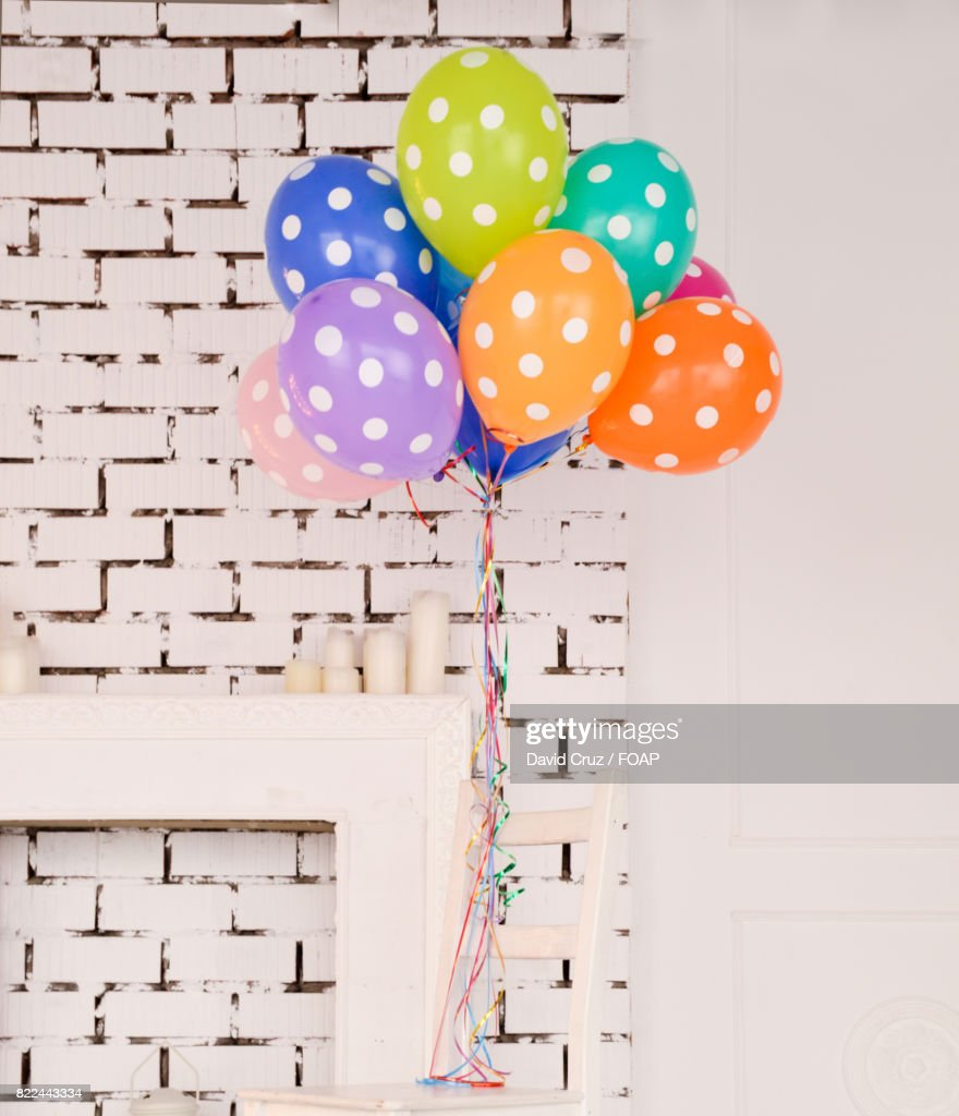 Multicolored colored balloons : Stock Photo