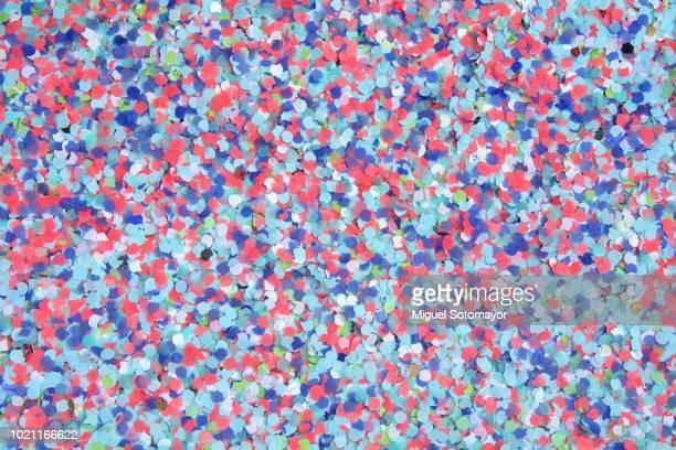 Multi-colored confetti