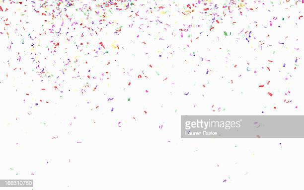 multicolored confetti - confetti stock pictures, royalty-free photos & images
