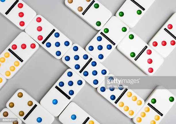 Multi-colored domino game