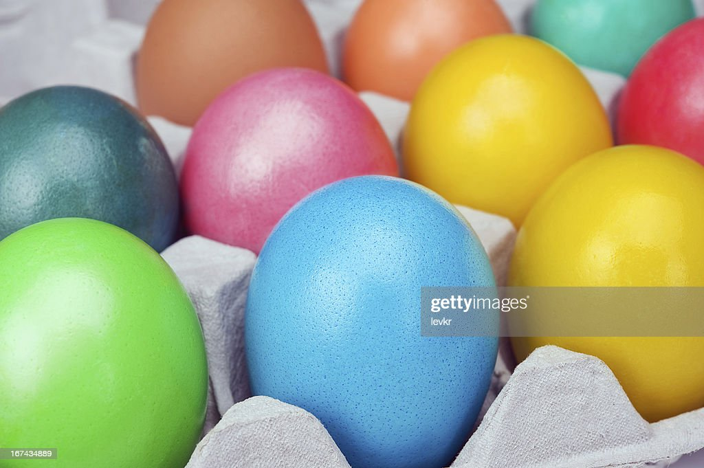 multicolored huevos de Pascuas : Foto de stock