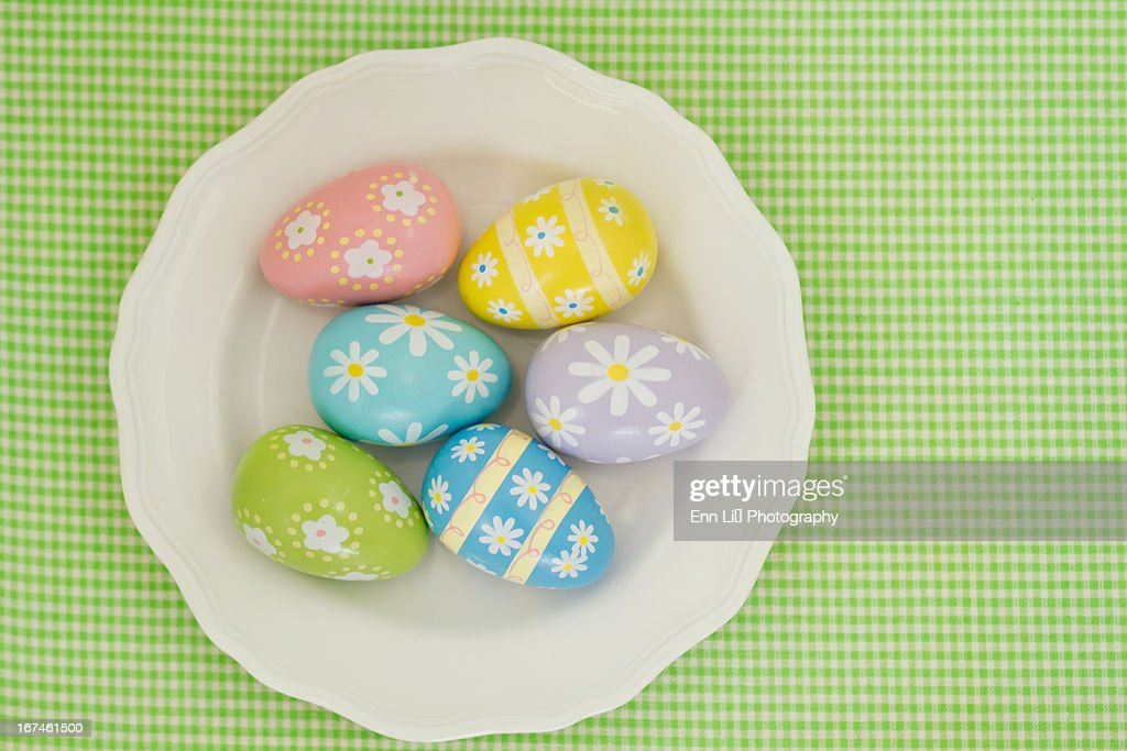 Multicolored Easter eggs : Stock Photo