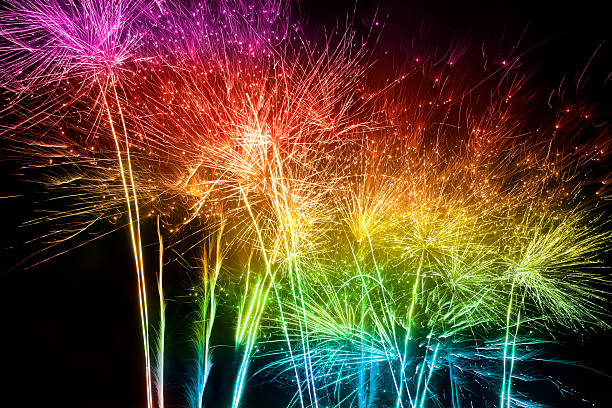 Multicolored Fireworks Wall Art