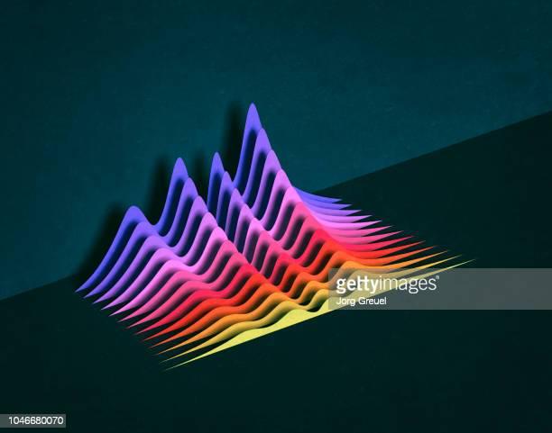 multicolored graphs - couches superposées photos et images de collection