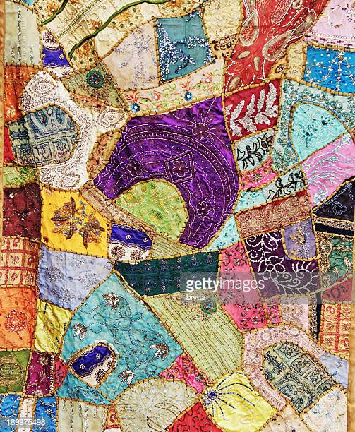 Multicolored handmade patchwork from Rajasthan,India