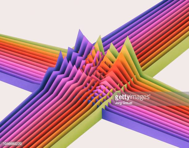 multicolored intersecting graphs - infographic stock pictures, royalty-free photos & images