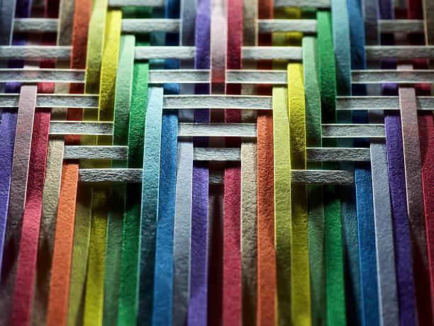 Multicolored of white paper strips