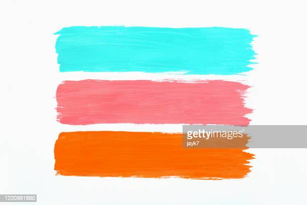 multicolored paint strokes - 塗り ストックフォトと画像
