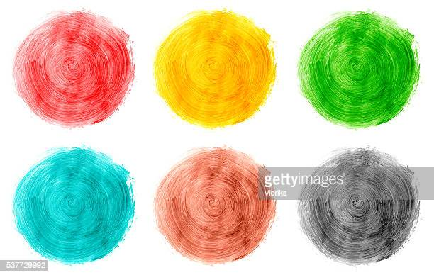 Multicolored paints on white (color swatch)