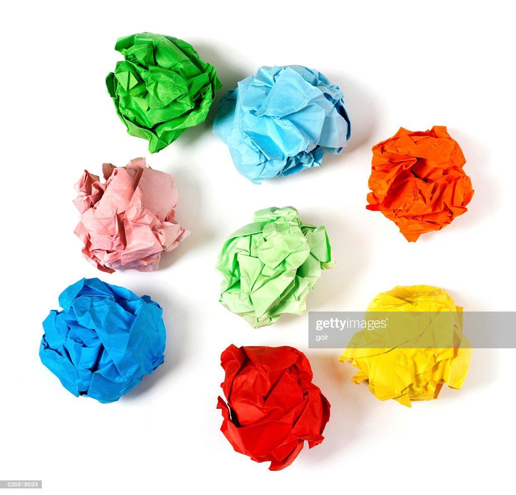 Multi-colored paper balls : Stock Photo