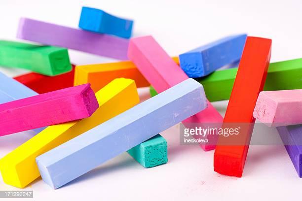 Multicolored pastel chalks