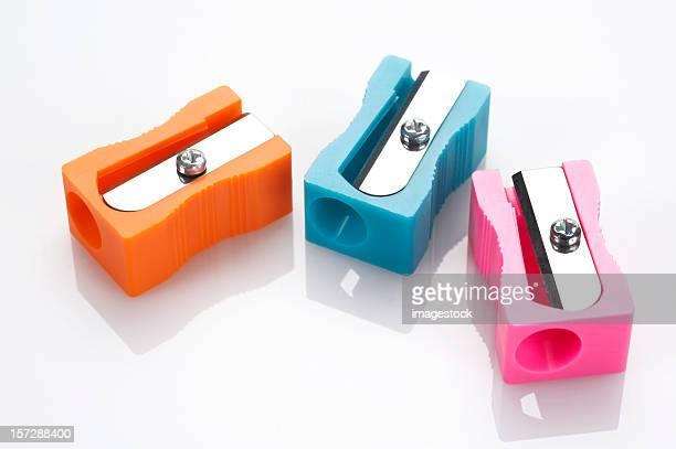 Multicolored pencil sharpeners