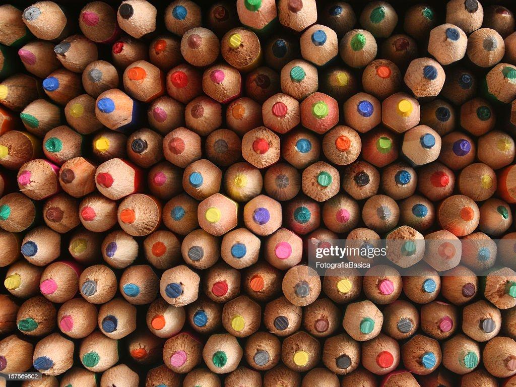 Multicolored pencils : Stock Photo