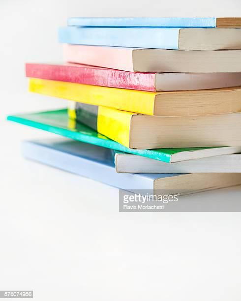 Multicolored pile of books