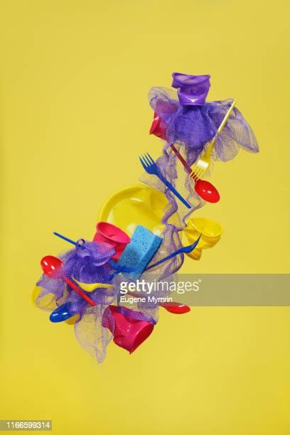multi-colored plastic objects - 使い捨て製品 ストックフォトと画像