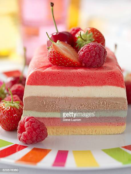 A multicolored semifreddo