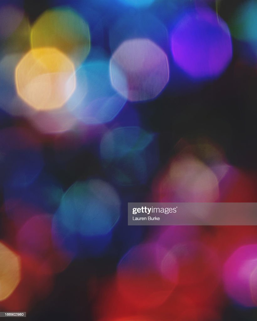 Multicolored sparkling lights : Stock Photo