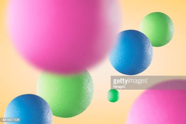 Multi-colored Spheres in Mid Air
