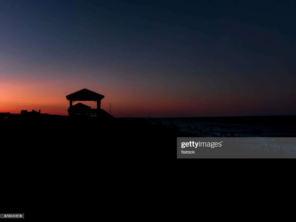 Multicolored Sunset On The Outer Banks High Res Stock Photo