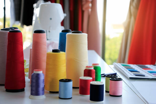 Multicolored thread spool For industrial sewing factory