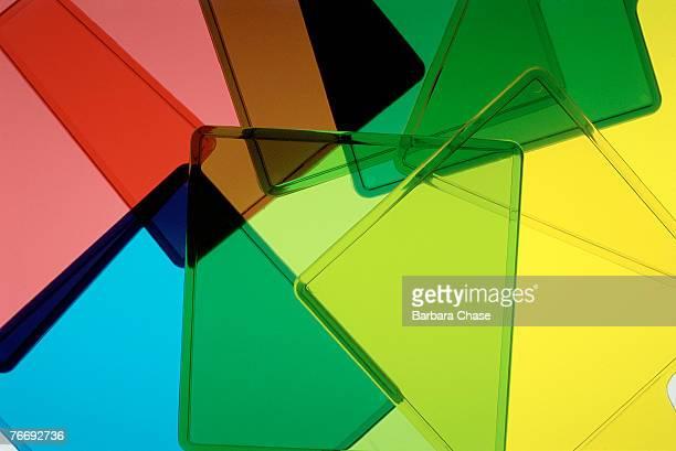 Multicolored transparent squares