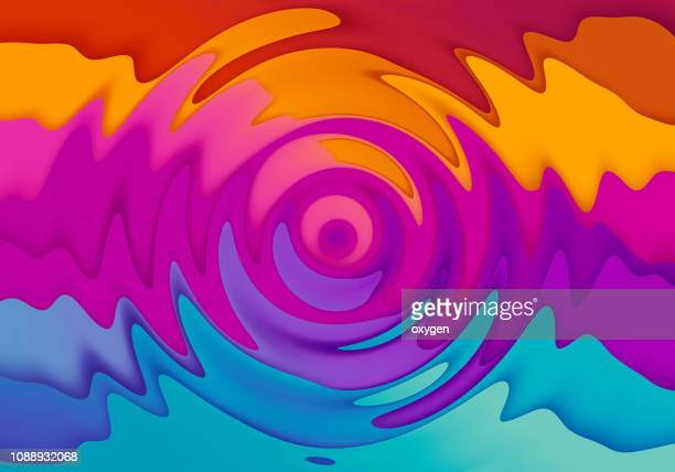 multicolored twisted shape background. - magenta stock pictures, royalty-free photos & images