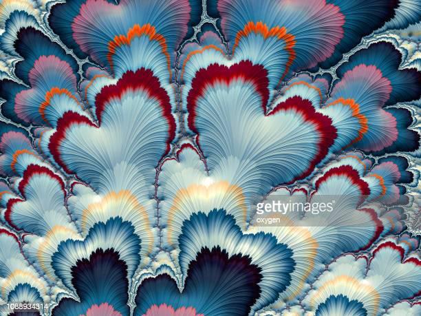 multicolored twisted shape background. - geometria fotografías e imágenes de stock