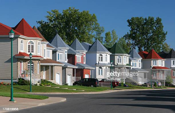 multicolors neighborhood - buzbuzzer stock pictures, royalty-free photos & images