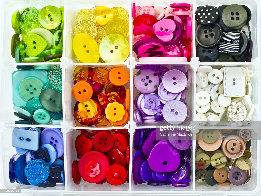 Multi-Coloured Buttons : Stock Photo