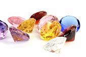 Multi-coloured crystals