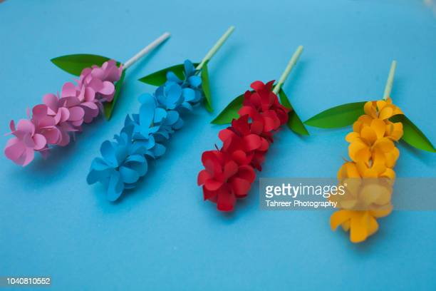 Multicoloured flower origami