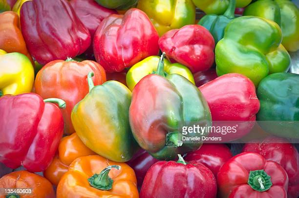 Multicoloured peppers