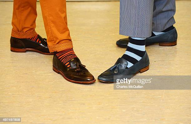 Multicoloured socks belonging to newly married couple Richard Dowling and Cormac Gollogly can be seen as the first ever same sex marriage in Ireland...