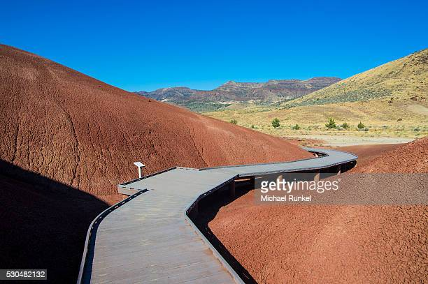 multicoloured strata hill in the painted hills unit in the john day fossil beds national monument, oregon, united states of america, north america - michael stock photos and pictures