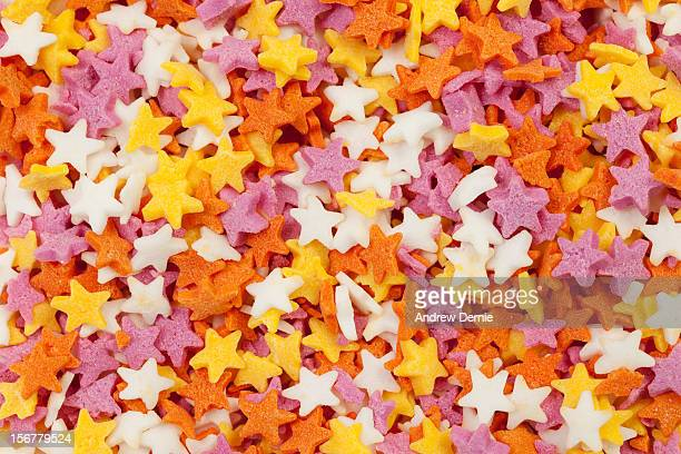 Multi-coloured Sugar Stars