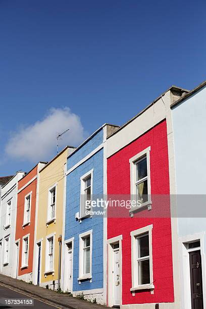 Multi-coloured Terrace Houses on Steep Hill